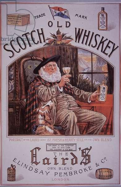 The Laird's Scotch Whiskey, c.1895 (colour litho)