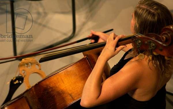 Female cellist