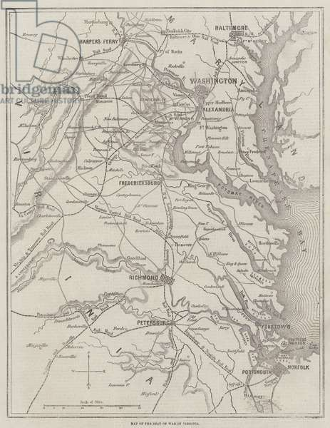 Map of the Seat of War in Virginia (engraving)