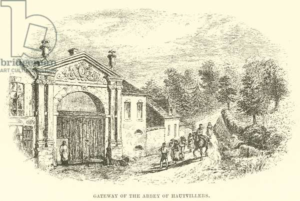 Gateway of the Abbey of Hautvillers (engraving)