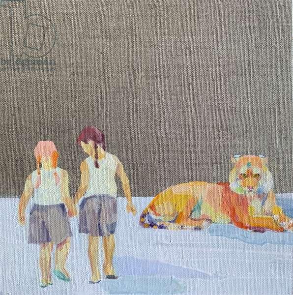 'Keep an Eye', 2020, oil on linen canvas board