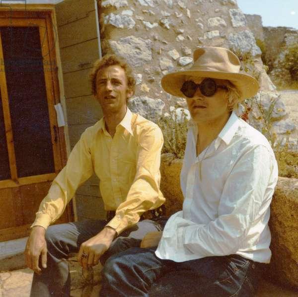 Patrick Procktor and David Hockney in Provence, c.1964 (photo)