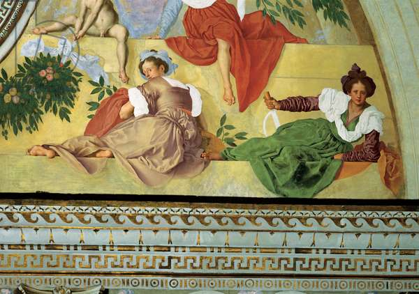 Vertumnus and Pomona, 1519 - 1521 (fresco)