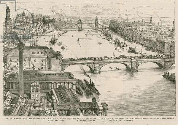 Tower Bridge, London (engraving)