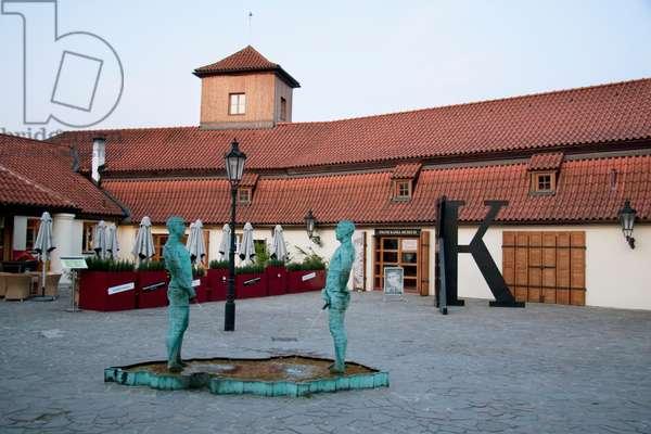 Piss, Fountain Sculpture at the Franz Kafka Museum, Prague, Czech Republic. (photo)