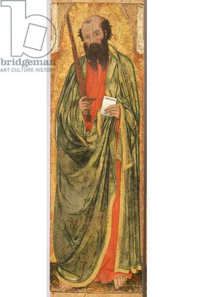 Saint Paul, c.1400 (detail of 5614884) (tempera on board)