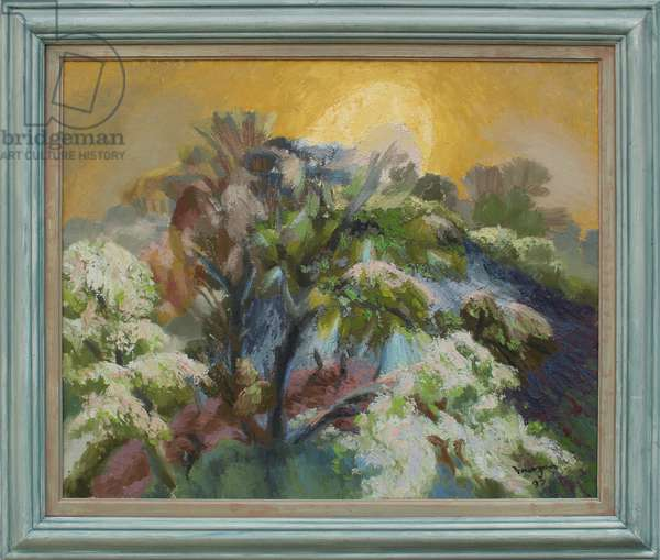 Lanscape with Rising Moon, 1997 (oil on canvas)