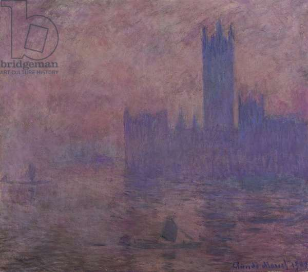 Westminster tower, 1904, by Claude Monet (1840-1926)