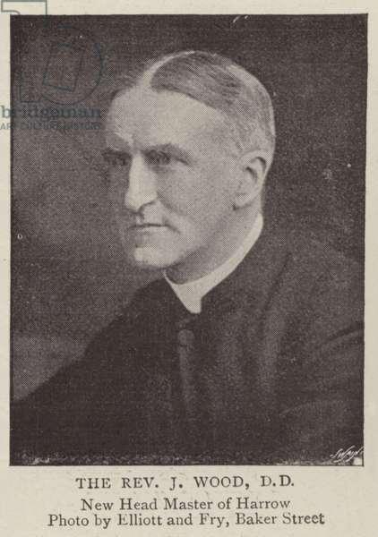 The Reverend J Wood, DD (b/w photo)