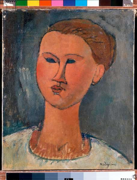 Head of Young Lady, 1915 (oil on canvas)