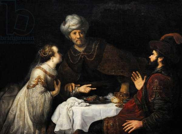 Esther and Haman before Ahasuerus, ca.1640, by Jan Victors (1620-1676).