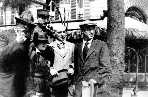 Pablo Picasso and Max Jacob in front of La Rotonde cafe in Montparnasse, Paris c. 1910