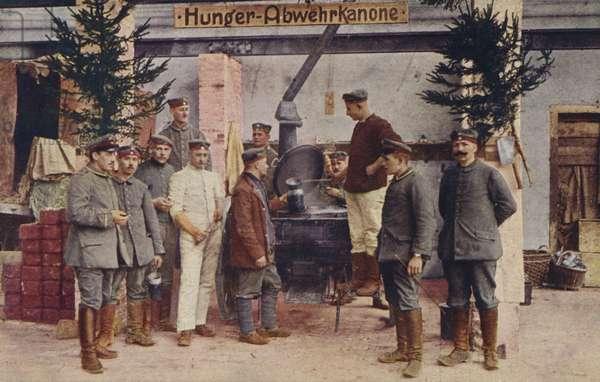 German field kitchen, World War I, 1914-1916 (photo)