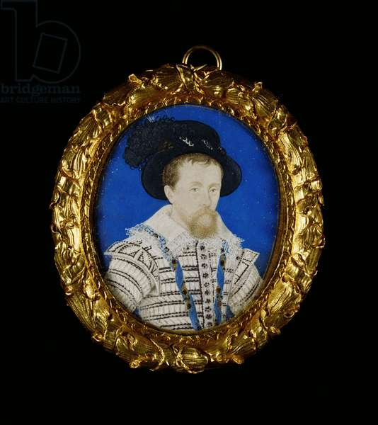 James I, c.1603-8 (w/c on vellum laid on playing card)