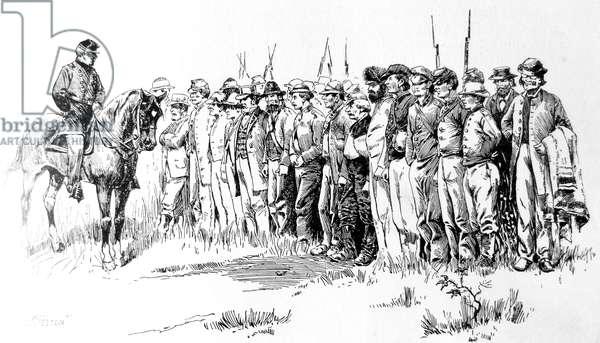 American Civil war-1861 1865 Confederate prisoner print 1870