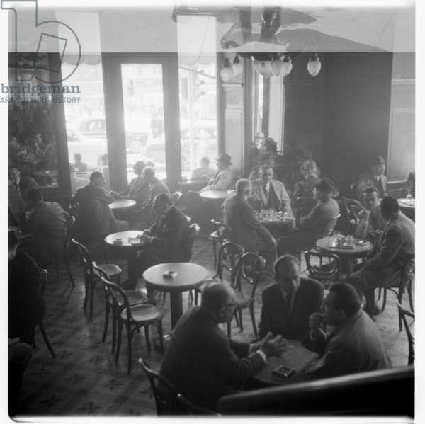 Cafe, c.1955 (b/w photo)