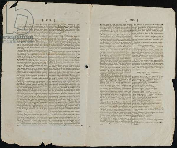 London Gazette Extraordinary, Thursday 22 Jun 1815 (print)