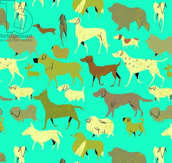 Dogs!, 2010, (mixed media)