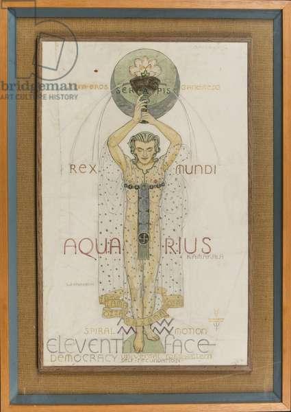 Aquarius, c.1948 (pencil, pen, ink & w/c on paper)