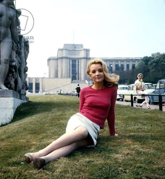 French Actress Caroline Cellier,Paris, c. 1970 (photo)