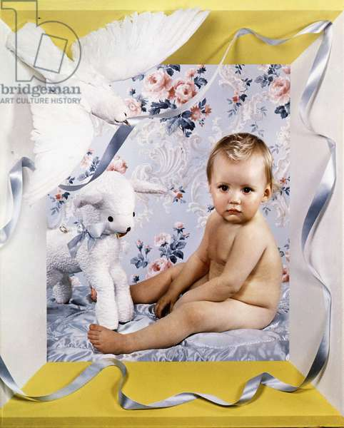 Baby with Lamb, 1938 (colour carbro print)