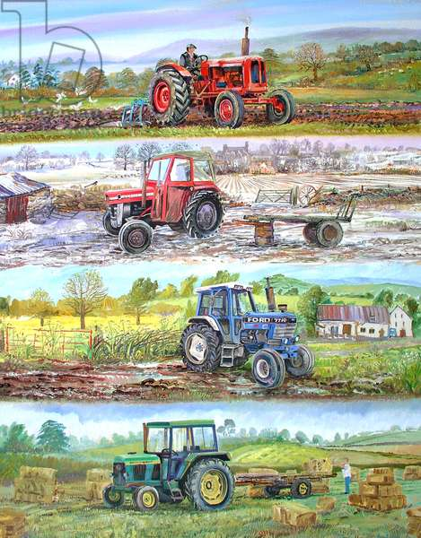 Four Seasons Tractors, 2012 (oil on canvas)