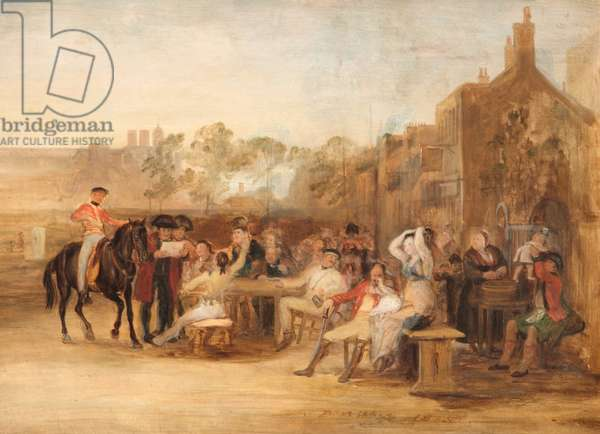Chelsea Pensioners reading the Waterloo Despatch, 1819 (oil on board)