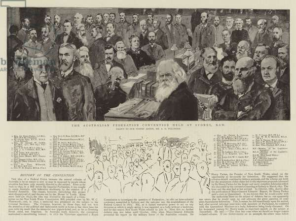 The Australian Federation Convention held at Sydney, NSW (litho)