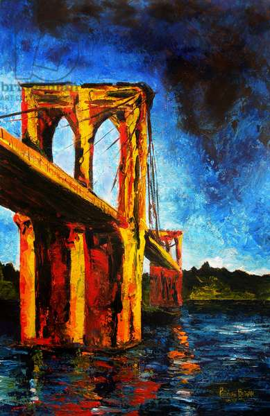 Brooklyn Bridge to Utopia, 2009 (acrylic on canvas)