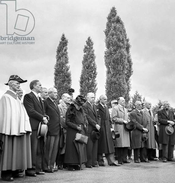 Switzerland Ioc 50 Years Anniversary, 1944 (b/w photo)