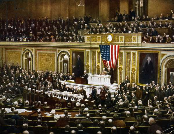 For the freedom of the world, President Woodrow Wilson, asking Congress to declare war on Germany, April 2, 1917, created 1918