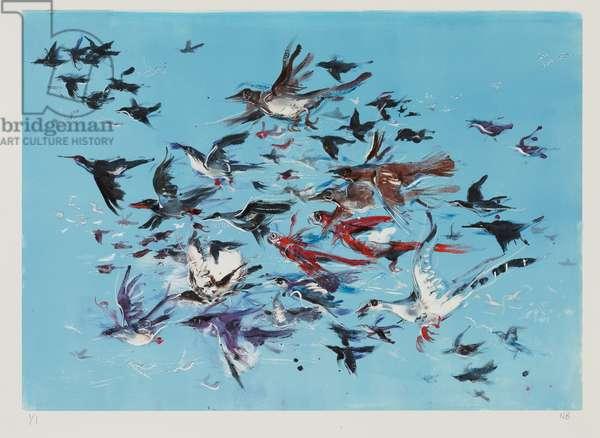 Flight, 2011 (monoprint and ink)