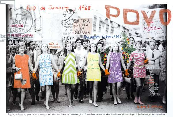 Rio de Janeiro, Passeata dos cem mil 1, 1968, 2014-18 (ink pigment print on Hahnemühle paper)