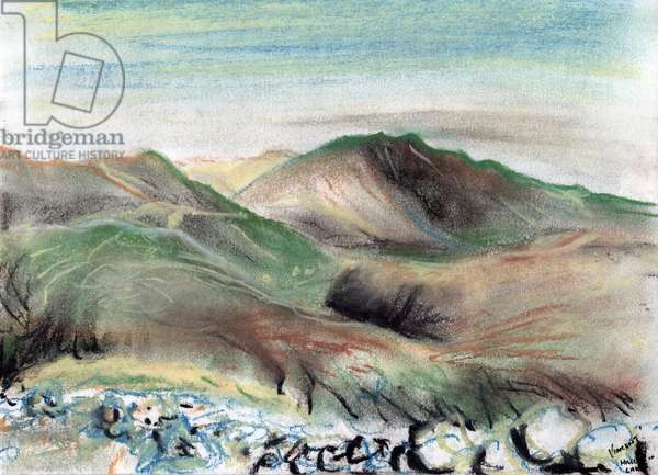 Hills in the Lake District, 2005 (pastels on paper)