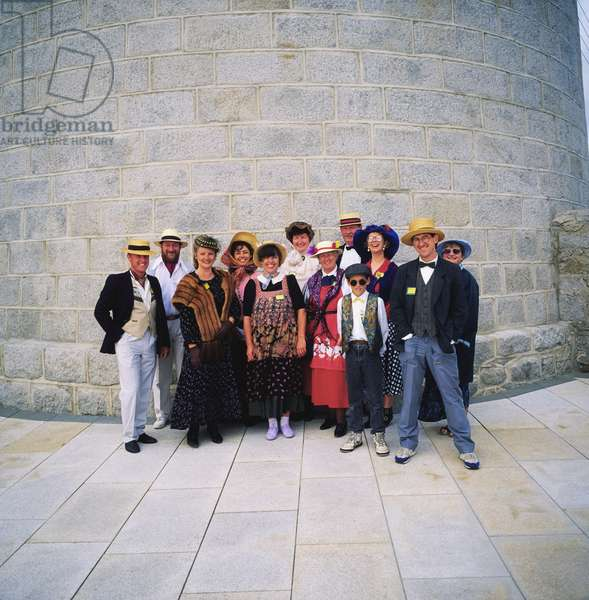 James Joyces Tower,Dublin,Co Dublin,Ireland;People Dressed Up For Bloomsday (photo)