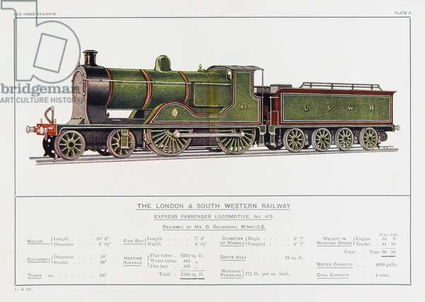 LONDON AND SW RLY LOCO