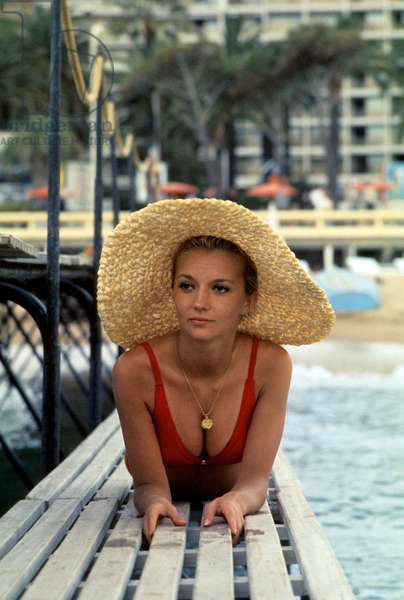 Caroline Cellier, Cote d'Azur, c. 1972 (photo)