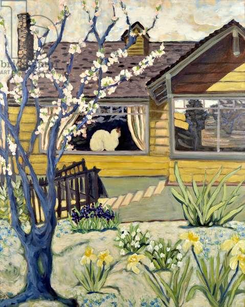 Yellow House, 2019 (acrylic on canvas)