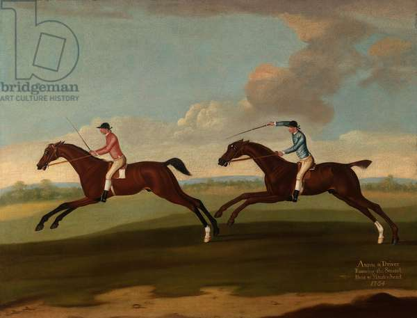 Aaron and Driver Running the Second Heat at Maidenhead, 1754 (oil on canvas)