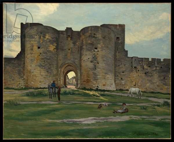 Porte de la Reine at Aigues-Mortes, 1867 (oil on canvas)