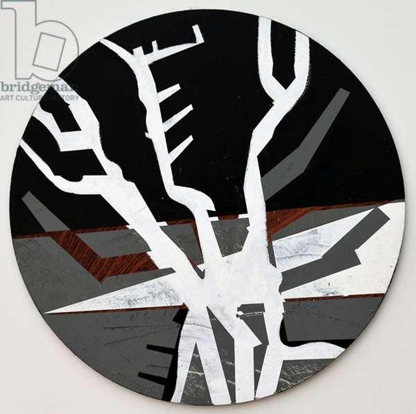Twixt Heaven & Earth XIII-B (acrylic on circular board)
