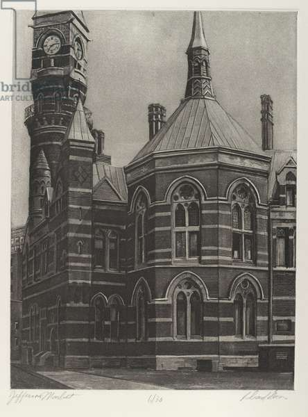 Jefferson Market, printed by Jennifer Melby, 1976 (aquatint, photo-engraving)