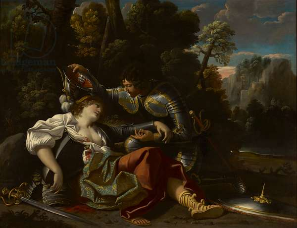 Tancred and Clorinda (oil on canvas)