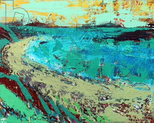 Beyond the machair (acrylic on canvas)