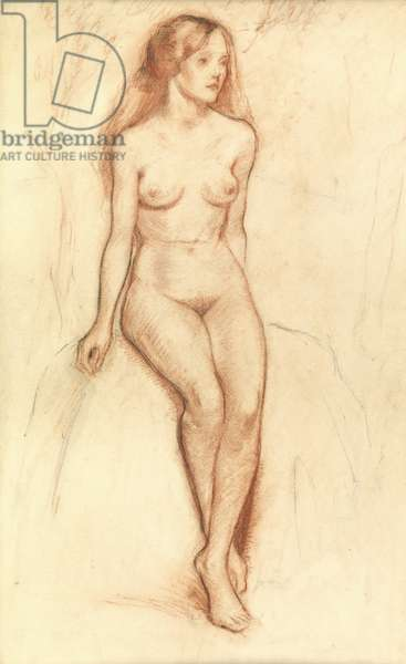 Female nude (pencil & chalk on paper)