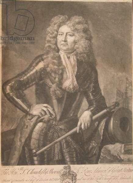 Sir Cloudesley Shovell, Admiral, 1723 (mezzotint)