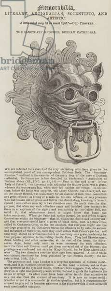 The Sanctuary Knocker, Durham Cathedral (engraving)