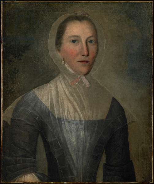 Portrait of Mary Crosswell, 1763 (oil type on fabric)