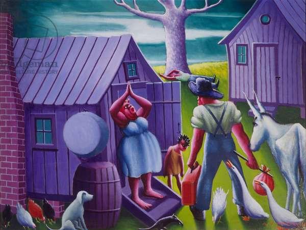 Lawd, Mah Man's Leavin', 1940 (oil on canvas)