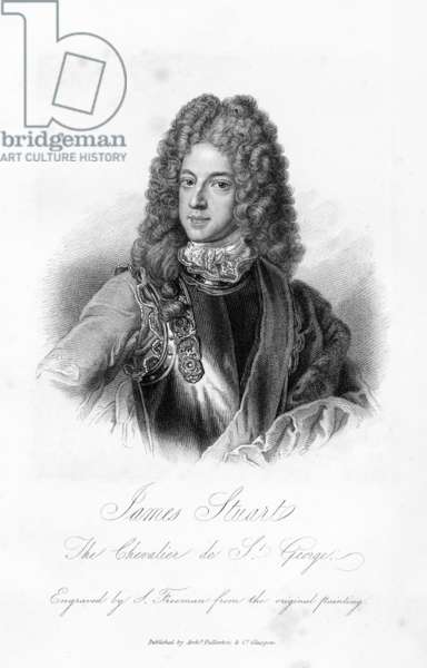 James Stuart, the Chevalier de S. George, print made by S. Freeman, c.1845 (engraving)